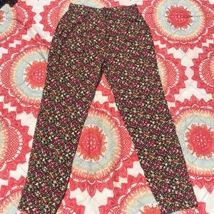American apparel high waisted floral pants